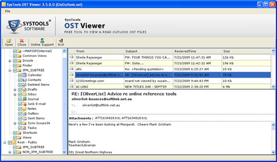 OST Viewer screenshot